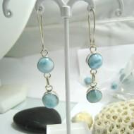 Larimar-Stone Larimar Earrings Round OR28 11693 49,00 €