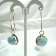 Larimar-Stone Larimar Earrings Round YO43 11689 39,00 €
