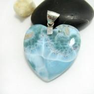 Ларимар ювелирные изделия сердце YH24 11702 Larimar-Stone