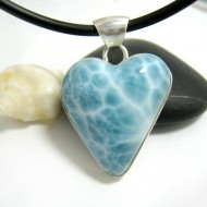 Ларимар ювелирные изделия сердце HZ24 11703 Larimar-Stone