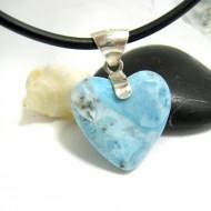 Ларимар ювелирные изделия сердце YH25 11704 Larimar-Stone