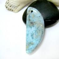 Larimar-Stone Larimar Stone Polished with drilled hole SB328a 11538 54,90 €