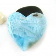 XXL Ларимар сердце кабошон HZ12 11756 Larimar-Stone