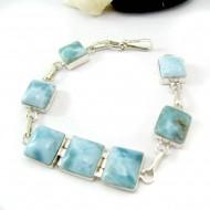 Yamir Luxury Bracelet 7 Quadrangle YA8 11811 Larimar-Stone 89,00 €