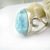 Ларимар Ювелирное кольцо YF22 11788 Larimar-Stone