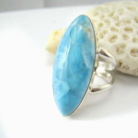Larimar-Stone Larimar Yamir Luxury Ring Navette YR10 11790 159,00 €