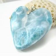 XXL Ларимар ювелирные изделия сердце YH27 11791 Larimar-Stone