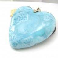 XXL Ларимар ювелирные изделия сердце HZ25 11792 Larimar-Stone