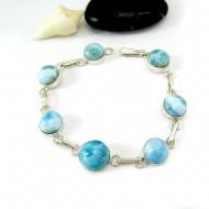 Larimar-Stone Yamir Bracelet 7 Round LC42 11812 79,00 €