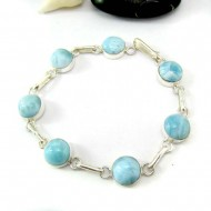 Larimar-Stone Yamir Bracelet 7 Round LC43 11813 79,00 €