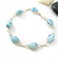 Larimar-Stone Yamir Bracelet 7 Stones Classic LC44 11814 79,00 €