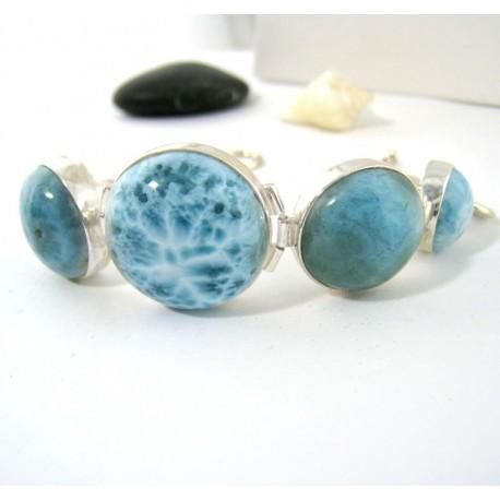 Larimar-Stone Yamir Bracelet Round 9201 189,00 €