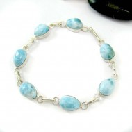 Larimar-Stone Yamir Bracelet 7 Stones Classic LC47 11817 79,00 €