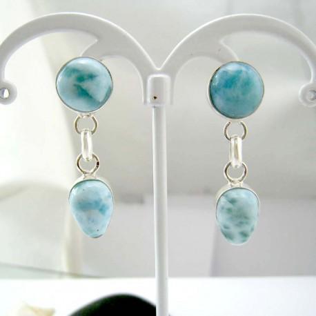 Larimar-Stone Larimar Earrings Drop Round TO8 11821 54,99 €