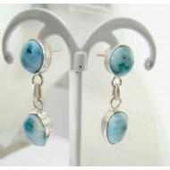 Larimar-Stone Larimar Earrings Drop Round TO9 11822 54,99 €
