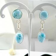 Larimar-Stone Larimar Earrings Drop Round TO10 11823 54,99 €