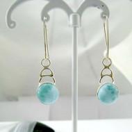 Larimar-Stone Larimar Earrings Round YO45 11825 39,00 €