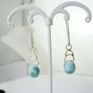 Larimar-Stone Larimar Earrings Oval YO46 11826 39,00 €