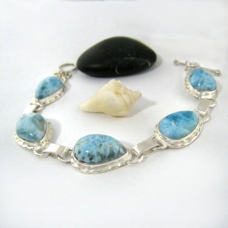 Larimar-Stone Yamir Armband 5 fach Tropfen 9203 189,00 €