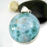 Ларимар изделия круглый YR9a 11800 Larimar-Stone