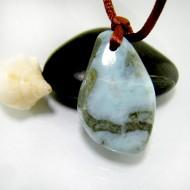 Larimar-Stone Larimar Stone Polished with drilled hole SB313 11831 39,90 €
