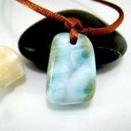 Ларимар камень пробурена с лентой SB316 11834 Larimar-Stone