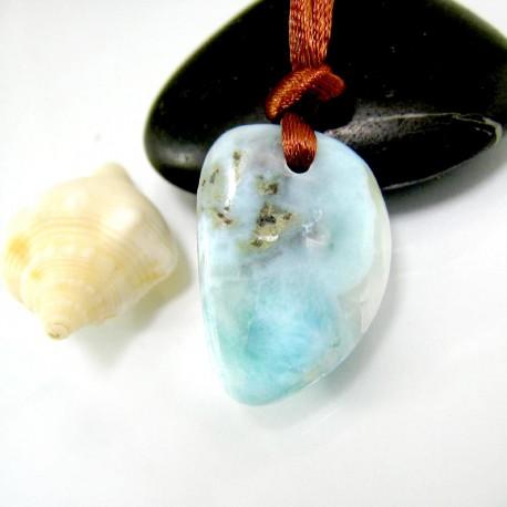 Larimar-Stone Larimar Stein mit Bohrung und Band SB317 11835 39,90 €