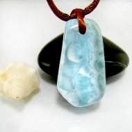 Larimar-Stone Larimar Stein mit Bohrung und Band SB319 11837 69,90 €