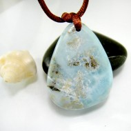 Piedra Larimar perforada con cordón SB326 11845 Larimar-Stone 49,90 €