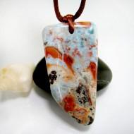 Ларимар камень пробурена с лентой SB328 11847 Larimar-Stone
