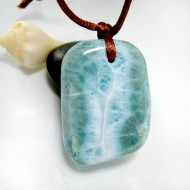 XL Ларимар камень пробурена с лентой SB331 11850 Larimar-Stone
