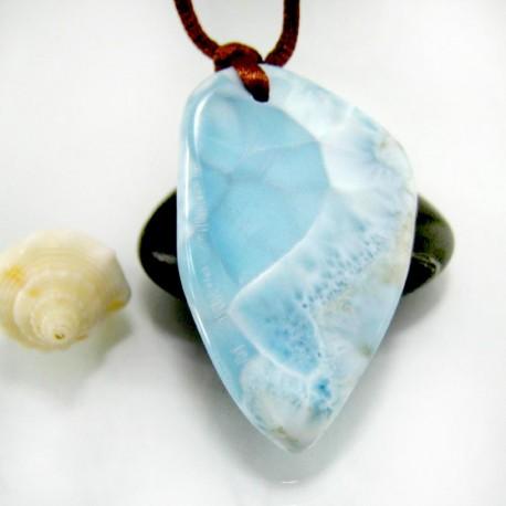 Larimar-Stone Larimar Stein mit Bohrung und Band SB336 11856 109,90 €