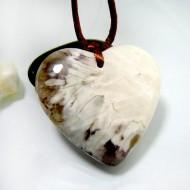 Larimar Stein mit Bohrung und Band Herz LH9