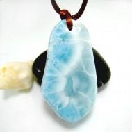 XL Ларимар камень пробурена с лентой SB341 11863 Larimar-Stone