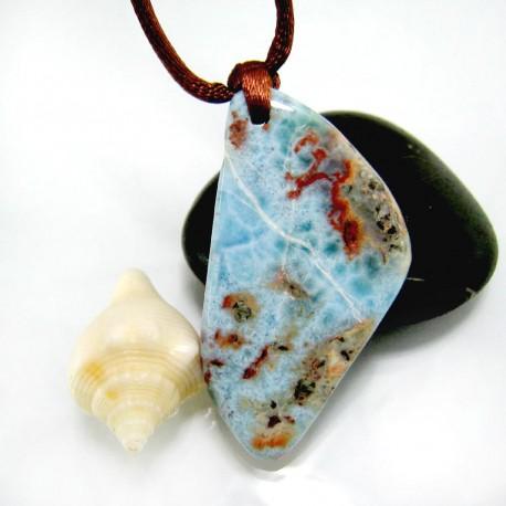 Larimar-Stone Larimar Stein mit Bohrung und Band SB343 11865 69,90 €