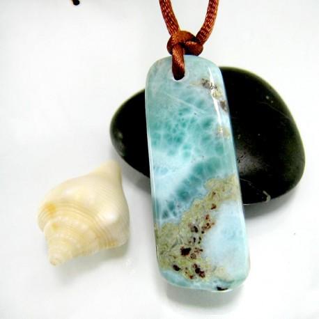 Larimar-Stone Larimar Stein mit Bohrung und Band SB345 11867 59,90 €