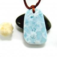 Ларимар камень пробурена с лентой SB347 11869 Larimar-Stone