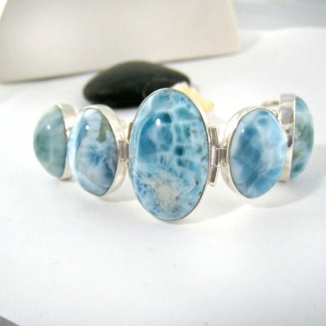 Larimar-Stone Yamir Armband 5 fach Oval 9206 259,00 €