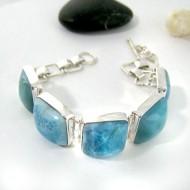 Larimar-Stone Yamir Bracelet 5 Stones 9207 259,00 €