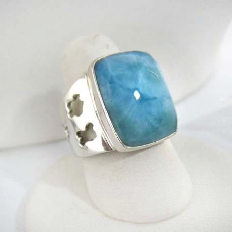 Larimar-Stone Yamir Larimar Luxury Ring Viereck 9266 109,00 €