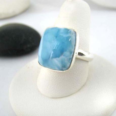 Larimar-Stone Ring Larimar Viereck Unisex 02 9272 69,00 €